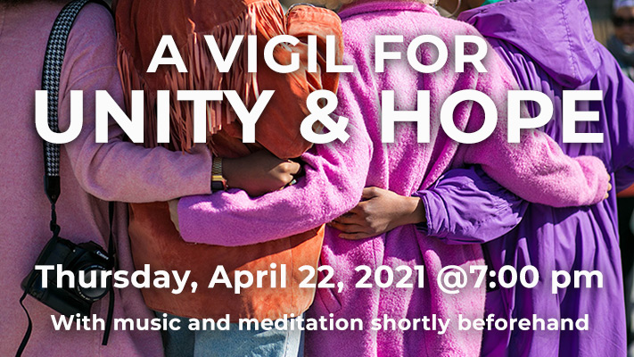 vigil for unity and hope